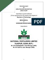 Internship Report of Line 2 Urea Process Formation at NFL,Vijaipur