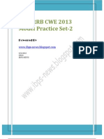 RRB Model Set 2 for IBPS RRB CWE 2013
