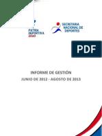 Informe de Gestion Snd 2012-2013