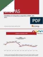 Estadísticas de trabajadores asegurados al IMSS en Chiapas. Julio 2013