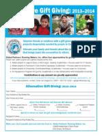 Alternative Giving 2013-2014