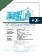 St. Timothy L.A. June 14 Bulletin.