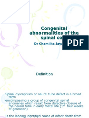 05 Congenital Abnormalities of the Spinal Cord | Congenital