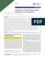 Epigenetic (de)Regulation of Adult Hippocampal