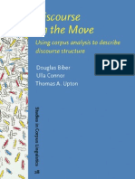 Discourse on the Move:Using Corpus Analysis to Describe Discourse Structure-DouglasBiber