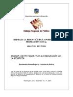 06_PP_Estrategia Para La Reduccion de La Pobreza BOLIVIA 2001