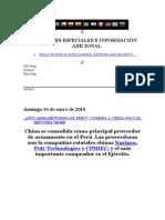 REPORTAJES ESPECIALES E INFORMACIÓN ADICIONAL