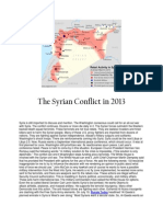 The Syrian Conflict in 2013 and Beyond