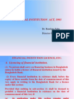 Financial Institution ACT and Security Exchange,1993.