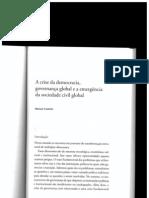 Seminário 6 - A Crise da Democracia, Governança Global e a Emergência de uma Sociedade Civil Global, Manuel CASTELLS