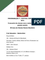 Programação do 7º Festival CineMúsica 2013