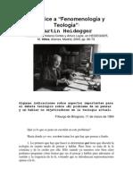 """Apéndice a """"Fenomenología y Teología"""""""