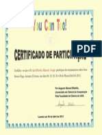 Certificado You Can Too-Alfredo