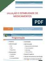 Diluição e Estabilidade de Medicamentos CRF