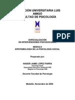 EPISTEMOLOGÍA DE LA PSICOLOGÍA SOCIAL