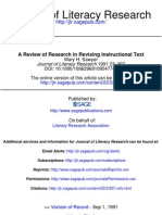 Review of research in revising instructional text