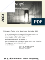 Waterways Poetry in the Mainstream