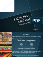Fabrication Methods
