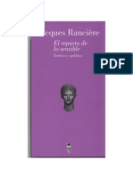 Ranciere El Reparto de Lo Sensible