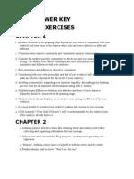 Answer Key to Exercises