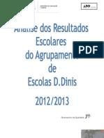 Relatório Final Observatório da Qualidade Resulatdos Escolares ADDinis 2012-2013 final