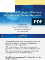 Internal Workings of Essbase-ASO & BSO Secrets Revealed
