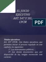 EL JUICIO EJECUTIVO Y EJECUCIÓN FORZOSA