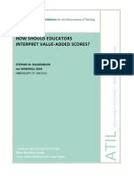 How Should Educators Interpret Value-Added Scores Oct 2012 Carnegie Foundation