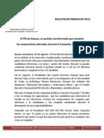 Boletin de Prensa 001-2013 Cde Pri Oaxaca