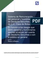 Deutsche Securities Manual Remuneraciones