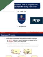 Generazione di codice Java da sorgenti  BPEL utilizzando l'Eclipse Modeling  Framework