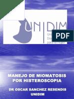 Miomatosis e Histeroscopia