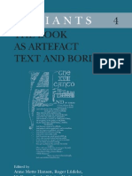 A. M. Hansen, R. Lüdeke, W. Streit, C. Urchueguía, P. Shillingsburg eds. The Book as Artefact Text and Border Variants 4  2006