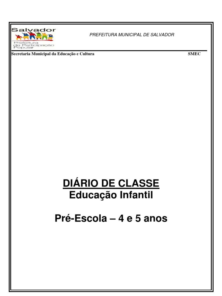 Populares diario-classe educação infantil BS93