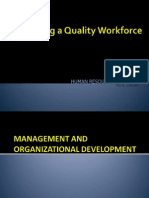 4B Developing a Quality Workforce - Management and OD