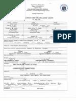 PNHS Scholars Form