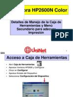 HP2600 Manejo Del Tool Box
