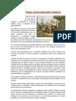 COMO CRISTOBAL COLON DESCUBRIÓ AMERICA