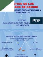 I. GESTIÓN DE LOS PROCESOS DE CAMBIO