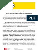 Festival della politica - Cartella Stampa  - settembre 2013
