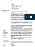 Australian Building Codes Board (ABCB) Open Letter 1