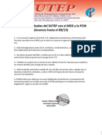 Acuerdos SUTEP - MED - PCM - Documentos 08-13