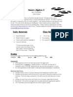 algebra 2 2013 welcome letter