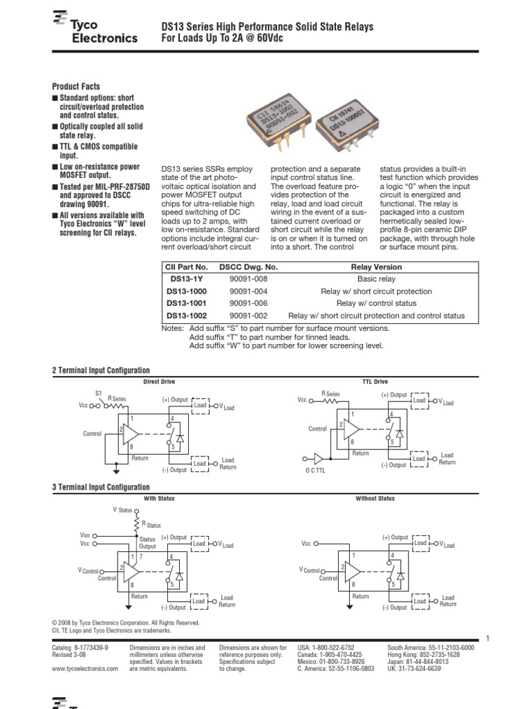 Ds13 Series Ssr1 Relay Resistor Basic Control Circuit