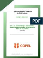 ETC101 Transformadores Para Instrumentos e Conjuntos de Medicao II