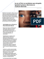 El racismo en el Perú un problema que atropella los derechos y la dignidad humana