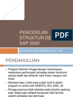Pemodelan Struktur Dengan Sap 2000