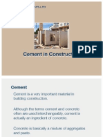 Cement in Building Construction