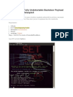 How To Get A Fully Undetectable Backdoor Payload With Set And Metasploit.docx