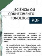 Conciencia Conhecimento Fonologico Apresentacao